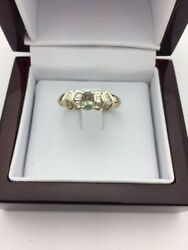 14kt Yellow Gold Rare Alexandrite And Diamond Ring Size 7.5