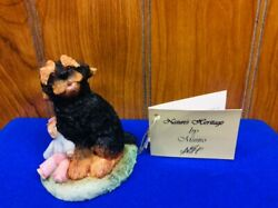 Yorkshire Terrier Dog With Raggedy Anne Doll Munro In England Figurine Statue