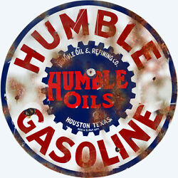 Extra Large Reproduction Humble Gasoline And Oil Station Sign