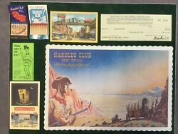 Harold's Club Reno Collectors Lot Postcards And Check Signed By Ray Smithand More 👀