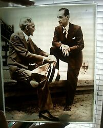 Henry Ford Rare Motor Company Henry N Edsel Glass Vintage Photo Ford