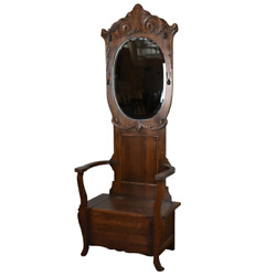 Arts and Crafts Oak Hall Tree With Storage in Seat