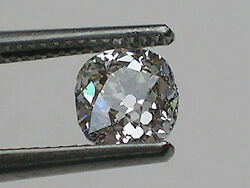 0.79 Ct Gia Certified, Antique Old Miner's Cut Diamond K, Si2 Laser Inscribed
