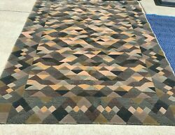 Vintage Missoni Area Rug Luxor 100 Wool 6 X 8 Pre-owned - Great Condition