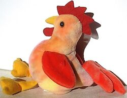 Ty Beanie Baby Original Strut Rooster Doodle Retired Error P.e. 1996 Tags