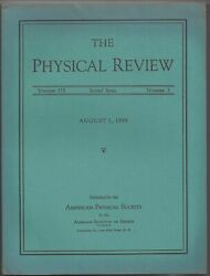 Y Aharonov / Significance Of Electromagnetic Potentials In The Quantum 1st 1959