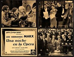 A Night At The Opera 1936 13 Spanish Lobby Cards 7.5x9.5 F+6.5 Marx Brother's