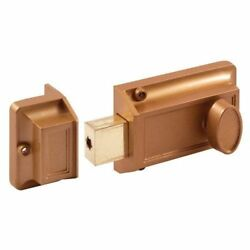 Prime-line Products U 9956 Single Cylinder Rim Dead Latch, Brass Painted Diecast