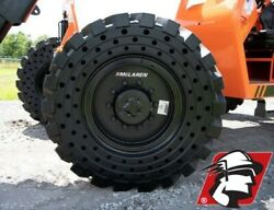 13x24 Telehandler Flat Proof Solid Tire Set of Four on Rim Genie and Gehl