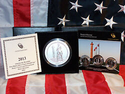 4 Coin 2013 5oz Silver Satin A-t-b Perryand039s Victory Quarter W/ 3 Pc Proof/unc