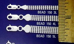 Bead 3-5 Rows Sterling Silver Chain And Bracelets