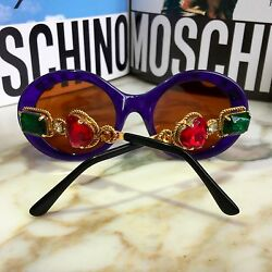 vintage MOSCHINO by Persol M253 sunglasses with transparent blue frame Lady Gaga