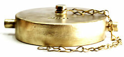 4-1/2 Nst - Nh Fire Hydrant Brass Cap And Chain Nni Hsr-4500b
