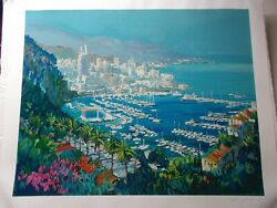 Kerry Hallam - Monte Carlo hand-signed and numbered serigraph on paper