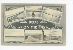 """""""peeps On The Tay"""" Antique Scotland Loch—highland Kenmore Rare Multiview 1912"""