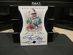 Panini Flawless Blue On Card Autograph Dolphins Ryan Tannehill 18/20 2015