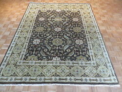 8 X 10 Hand Knotted Brown Fine Oushak Oriental Rug Vegetable Dyes G1309