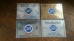 Vintage Metro Chapter 1978 79 81 82 Buick Club Of America Car Show Plaques