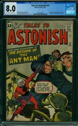 TALES TO ASTONISH #35 CGC 8.0 OW/W Pages Silver Age Comic Book ANTMAN 1ST APP