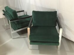 Drexel Contemporary Classic Baughman Style Mcm Club Chairs