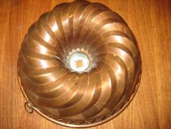Vintage French Copper Jelly Mold 9 1/2 X 4 1/2