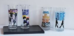 Beatles Drinking Glasses Collectible Set By Apple Corps Ltd. 2012 Set Of 4