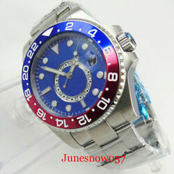Fashion Sapphire Glass 43mm Sterile Dial Automatic Menand039s Watch Gmt Auto Date