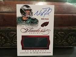 Panini Flawless Ruby Autograph Jersey Eagles Auto Nick Foles 14/15 2014