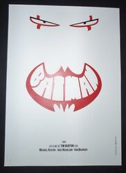 BATMAN  Cuban Screen-printed Tribute Poster for Jack Nicholson Movie  CUBA ART
