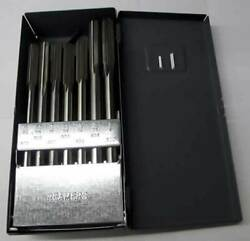 29 Pc. Made In Usa 1/16-1/2x64th Hss Straight Flute Reamer Set W/metal Index