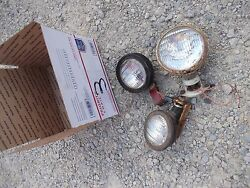 3 Farmall Ih 303 Combine 715 And Tractor Front Andrear Head Light Lights And Brackets