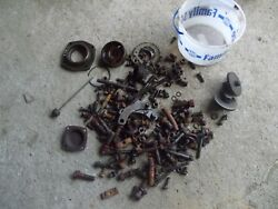 Farmall 450 Gas Rc Tractor Ih Ihc Box Of Bolts And Parts Nuts Pieces