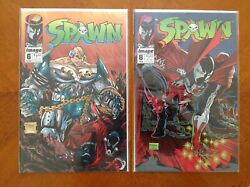 Set Of Spawn 6 And 8 Comic Books Image, 1992