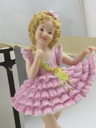 Shirley Temple 'baby Take A Bow' Autographed Bisque Porcelain Doll Figurine