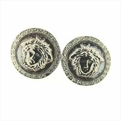 Gianni Versace Piercing Medusa Silver Woman Unisex Authentic Used T8158