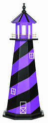 Amish Crafted Wood Garden Lighthouse - Sports Team Colors - Baltimore Ravens