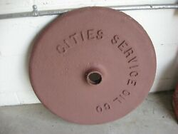 Curb  Sign Base....cities...mobil...amalie...for Porcelain Signs