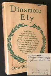 Dinsmore Ely One Who Served / First Edition 1919