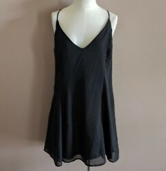 Nasty Gal After Party Women#x27;s XS Hot To Dot Dress A Line Mini Party Black $25.00