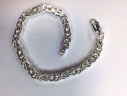 New Byzantine 5 Mm Sterling Silver Chain And Bracelets .925 Pure Silver