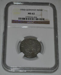 1950-j Germany - Federal Republic German Mark Graded By Ngc As Ms 62