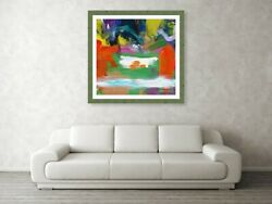 Large Square Abstract Wall Decor, Modern Canvas Art, Acrylic Painting,milk Pool
