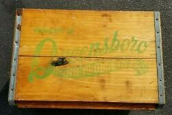 Vintage Queensboro Farms Products Inc Ny Milk Dairy Country Store Wooden Crate