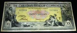 The Canadian Bank Of Commerce 1917 20 -chartered Banknote