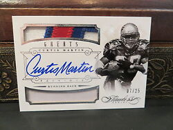 Panini Flawless Silver Autograph Jersey Greats Patriots Curtis Martin 07/25 2014