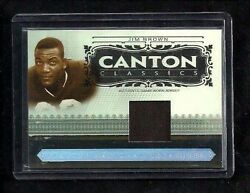 Jim Brown 2006 National Treasures Canton Classics Jersey /32 Cleveland Browns