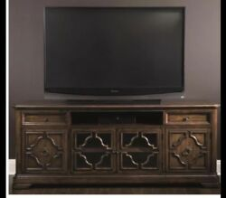 """Beautiful Walnut Montebella Entertainment Console For Tvs Up To 78""""by Bernhardt"""
