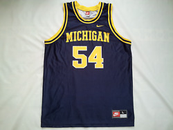 Vintage Made Usa Nike Michigan Wolverines 54 Robert Tractor Traylor Jersey L