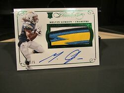 Panini Flawless Emerald On Card Autograph Jersey Chargers Melvin Gordon 3/5 2015