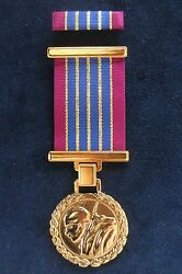 Serbian Army - Medal For 30 Years Of Ardent Military Service + Pin Ribbon Bar